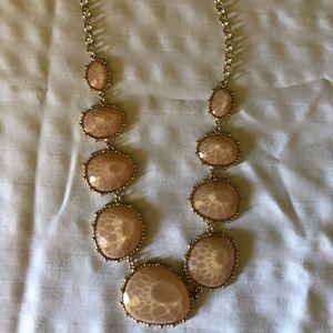 Pink gemstone statement necklace